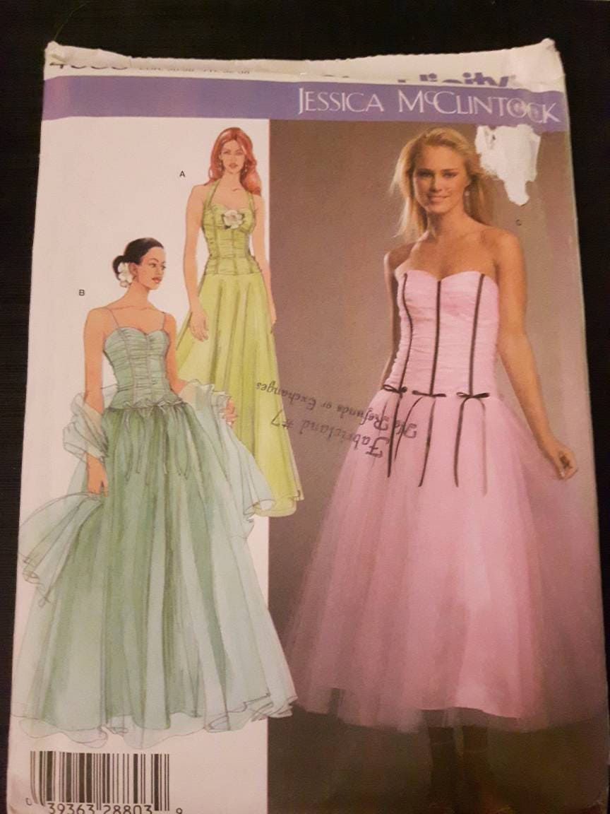 Simplicity 4686 Uncut Evening Gown Sewing Pattern | Etsy