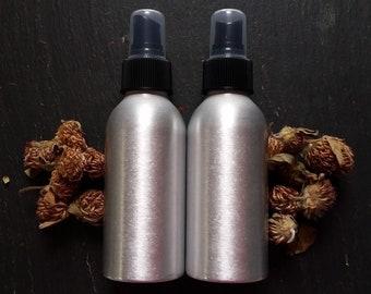 4 oz brossé bouteille en aluminium ~ Pack 2 ~ 4 Pack ~ montant personnalisé ~ Spray flacon ~ huile essentielle ~ nettoyeur ~ brume buse