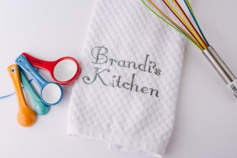 Personalized Kitchen Towel Embroidered Kitchen Towels Custom Kitchen Towel Kitchen Towel With Name