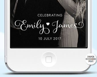 Wedding Geofilter, Elegant Snapchat Filter, Custom Filter Wedding Calligraphy Wedding Filter, Snapchat Wedding Filter, Boho Geofilter