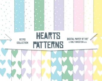 Pastel hearts | Etsy