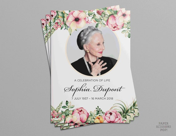 funeral program floral funeral program personalized flowers order