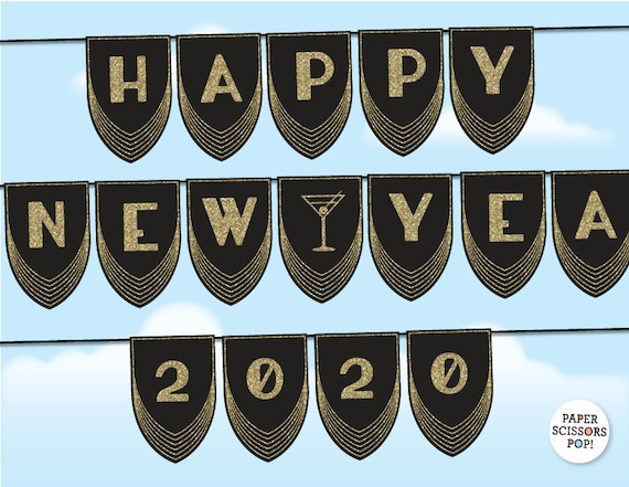 Happy New Year 2020 Happy 2020 2020, PNG, 3754x1692px, 2020 ...