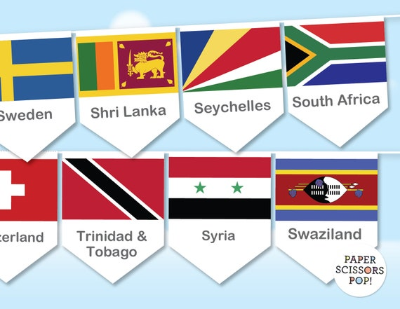 picture regarding Classroom Signs Printable named Planet flags clroom decor, World-wide flags banner