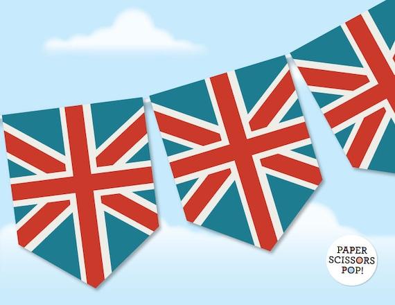 photograph regarding Printable British Flag identify Union Jack Banner, Printable British Flag Bunting, British isles Flag