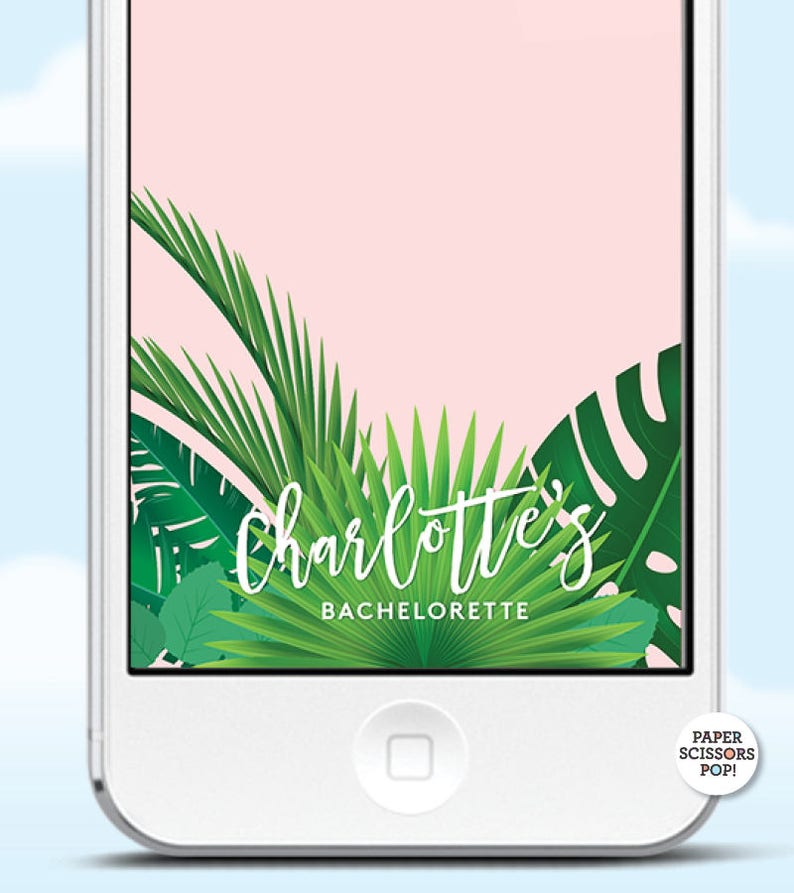 Tropical Snapchat Geofilter, Tropical Leaves Filter, Custom Snapchat  Personalized Geofilter, Hawaiian Tropical Filter, Bachelorette Filter