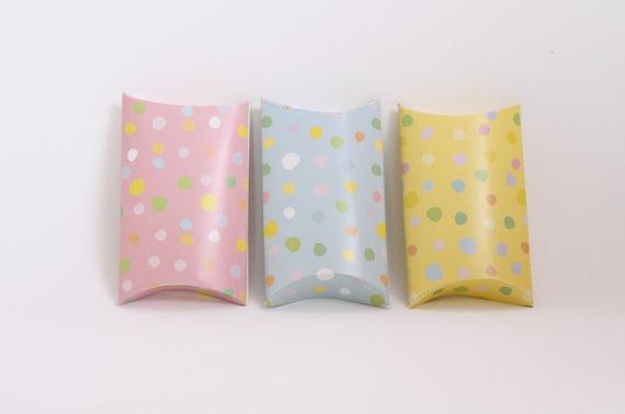 Pastel Geometric Chevron Pillow Boxes Pastel Pink Gift Gift Card Box Small Gift Box Printable Pastel Pillow Boxes Pastel Wedding Favors