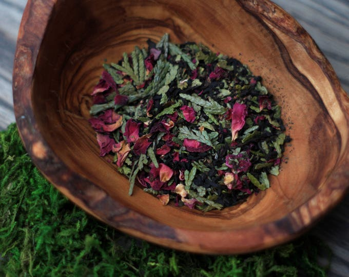 Featured listing image: HIGH REACHES Signature Premium Tea Blend // Smoke, Cedar, Rose, Juniper Berry, Peppermint