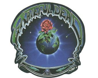Grateful Dead Earth Rose Sticker, Outside Window, Bumper Sticker, Decal   Planet Earth, Dead Tour, Vintage Dead