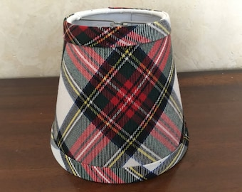 Plaid lamp shade etsy red tartan chandelier lampshade plaid shade tartan chandelier shades aloadofball Image collections
