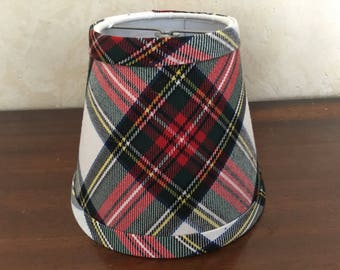 Plaid lamp shade etsy aloadofball