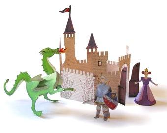 Kingdom Kit | DIY Paper Craft Kit | 3D Paper Toys | Paper Cutouts to Assemble | Creative Activity | Playful
