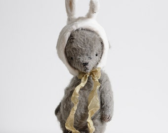 Made To Order Mohair Teddy Bear 7 Inches Plush Bunny Handmade Toy Stuffed Animal Artist Teddy Bear Easter Gift Personalized Gift Soft Toys