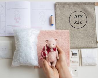 Sewing Gift Set Of 5 Diy Kits To Make Bunny Rabbit Bear Monkey Etsy