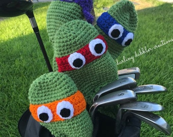 79f6dcf2031712 Ninja Turtle Golf Club Covers