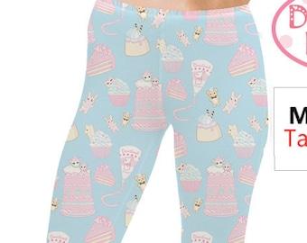 Fairy Kei Leggings Pastel Kawaii Leggings Sweets Leggings Cake Leggings Cupcake Leggings  Frosted Treats **MTO, Month**