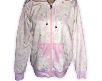 Frosting Hoodie Fairy Kei Hoodie Fairy kei Jacket  Pastel Frosting Hoodie Pastel Icing Jacket Pastel Sweets  **MTO, Month**
