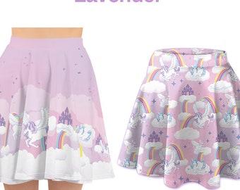 e2cffea4d9d70 Pastel Unicorn Skirt Yume Kawaii Skirt Rainbow Fairy Kei Skirt Kawaii skirt  kawaii print skirt