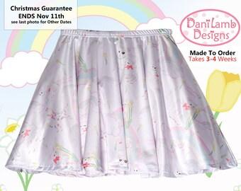 Kawaii Rainbow Skirt Fairy Kei Skirt Pastel Rainbow Skirt DaniLamb Sheep Cute Lamb Skirt Size XS Through 3XL *Made 2 Order*