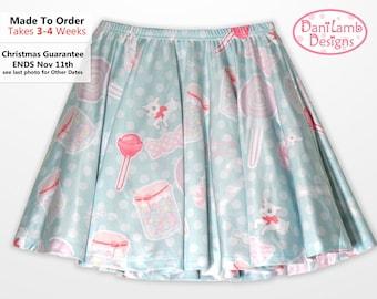 Candy Skirt Kawaii Fairy Kei Skirt Pastel Skater Skirt Konpeito Sweets Pastel Goth Size XS Through 3XL *Made 2 Order*