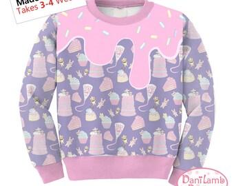 Frosting Sweater Fairy Kei Sweater Icing Sweater Pastel Sweets Sweatshirt Jumper Kawaii Sweater Kawaii Sweatshirt  **MTO, Month**