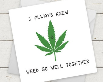 Weed Birthday Card Etsy