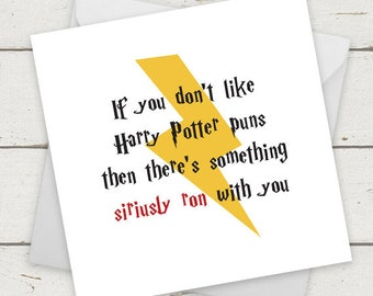 Funny Harry Potter Card