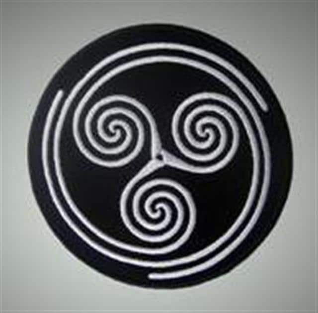Celtic Ornament 3 Spirals Male Sexual Power Symbol Etsy