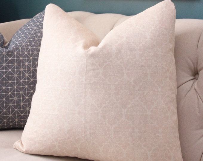 Schumacher Pillow Cover - Light Pink Pillow Cover - Veere Greeney Collection - English Printed Romantic Home Decor