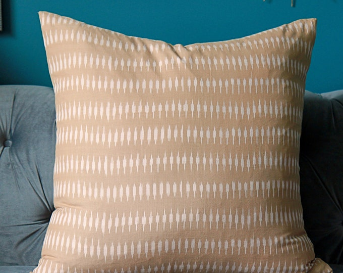 Kyra in Sand Pillow Cover -Kufri Life Ikat