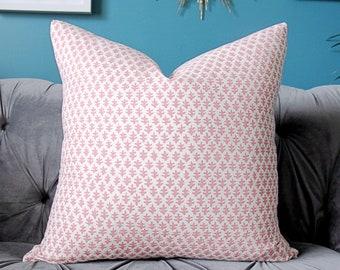 Sister Parish Pillow Cover - Burmese Petal Pink