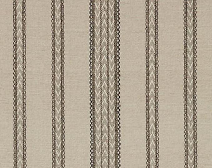 Tan and Black Woven Zig Zag Stripe Pillow Cover - Schumacher Modern Neutral Tribal Pillow Cover - Bohemian - Motif Pillows