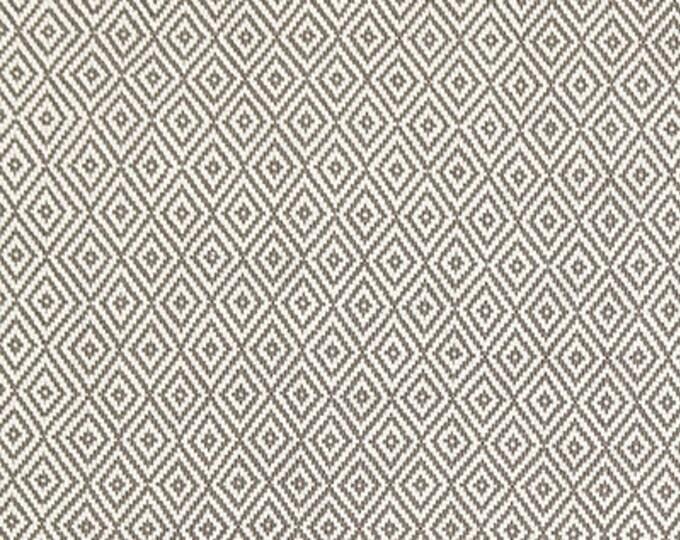Schumacher Pillow Cover - Charcoal Grey Geometric Pillow - Dark Gray and Off White - Sofia Diamond Pillow