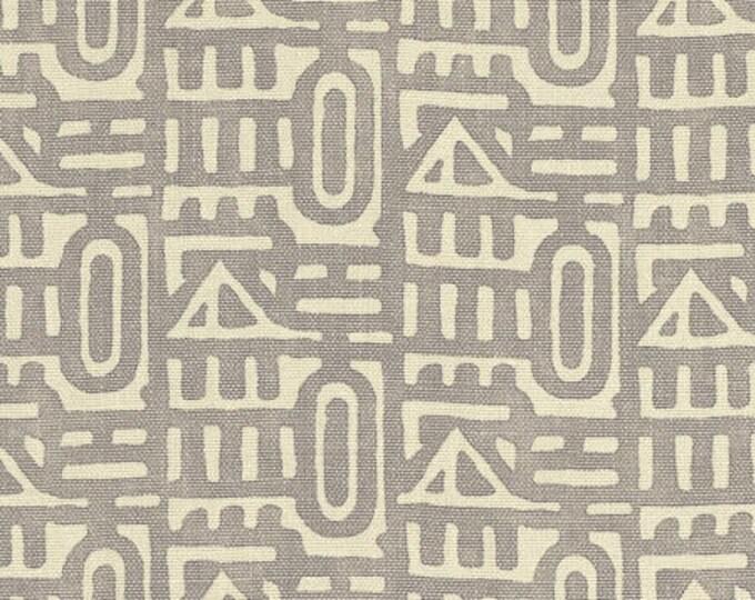 Gray Romo Pillow Cover - Moroccan Tribal Home Decor - Designer Gray and Khaki Linen Pillow Cover