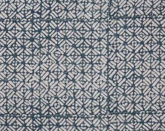 Walter G. Batik in Pacific Blue Linen Pillow Cover