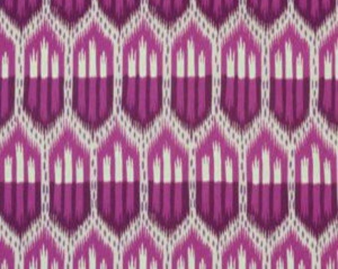Schumacher Pillow Cover - Bukhara Ikat in Fuchsia  - Large Scale Ikat - Motif Pillows