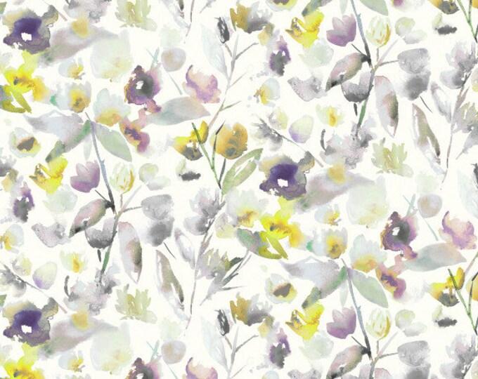 Sale - 35.00 Romo Pillow Cover - Floral Water Color - Purple Gray Aqua Yellow Orange Floral - Romo Fabrics - Motif Pillows