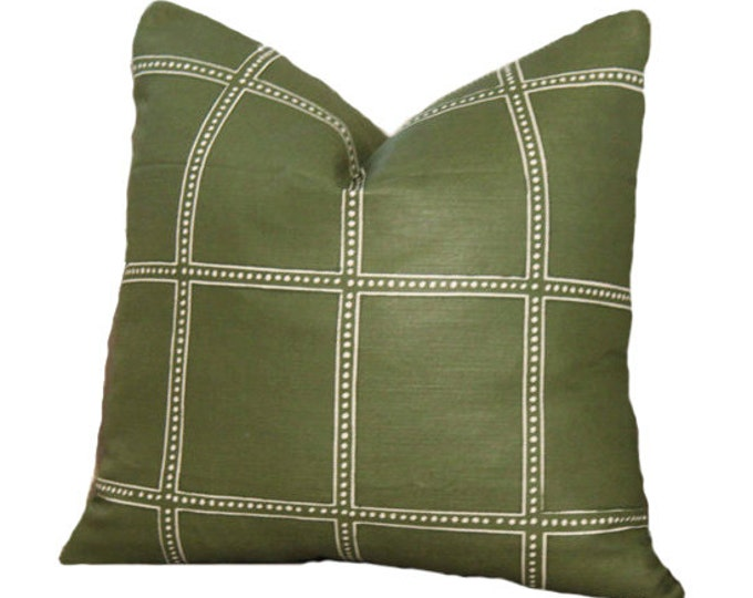 Zak and Fox Postage Pillow Cover - Olive Green Geometric Throw Pillow - Bohemian Pillow - Green Pillow