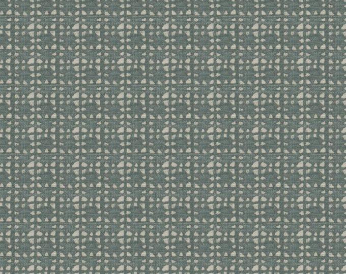 "Ready to Ship 18"" Double Sided Bohemian Pillow  Cover - Nate Berkus - Green Geometric Pillow - Seastone Block Print - Sea Glass Decor"