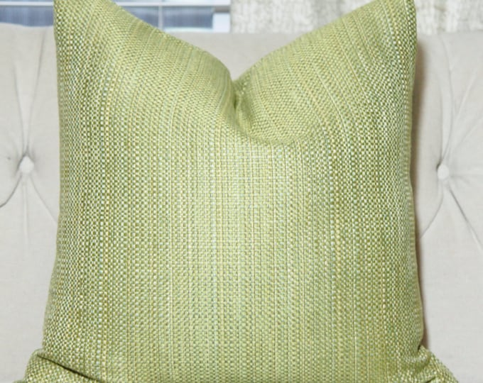 Sale 35.00 - Celery Green Pillow Cover - Olive Chartreuse Green Pillow Cover - Solid Green Pillow Cover - Motif Pillows - Green Decor