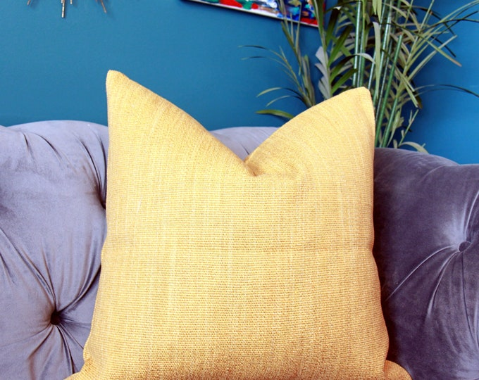 Zak and Fox Pampa - Quico Pillow Cover - Gold Jute