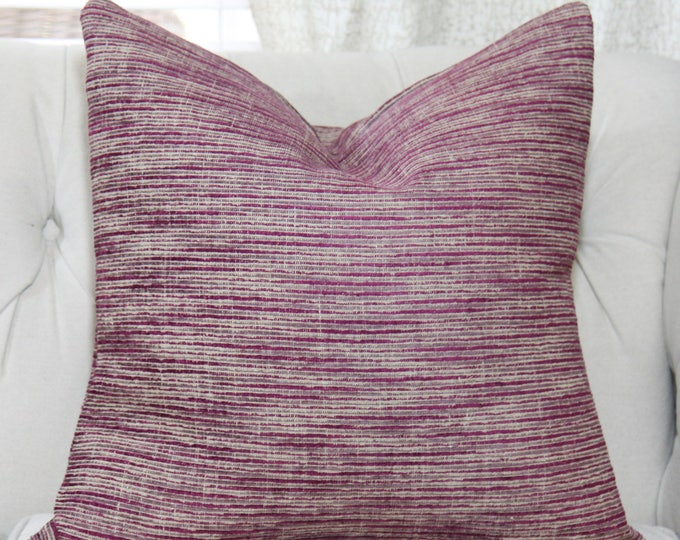 Zimmer and Rohde Pillow Cover - Purple Gray Beige Designer Pillow - Purple Geometric Cushion - Zimmer & Rohde