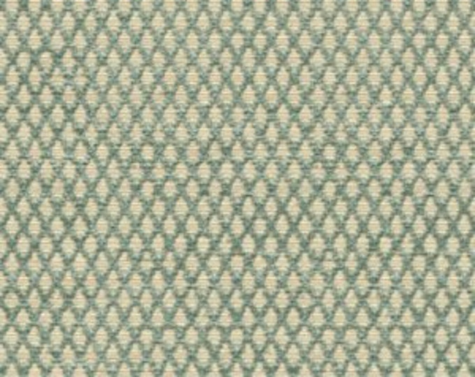"SALE - 18"" or 20"" - Decorative Pillow Blue Cover -  Blue Ivory Geometric - Designer Kravet Pillow Cover"