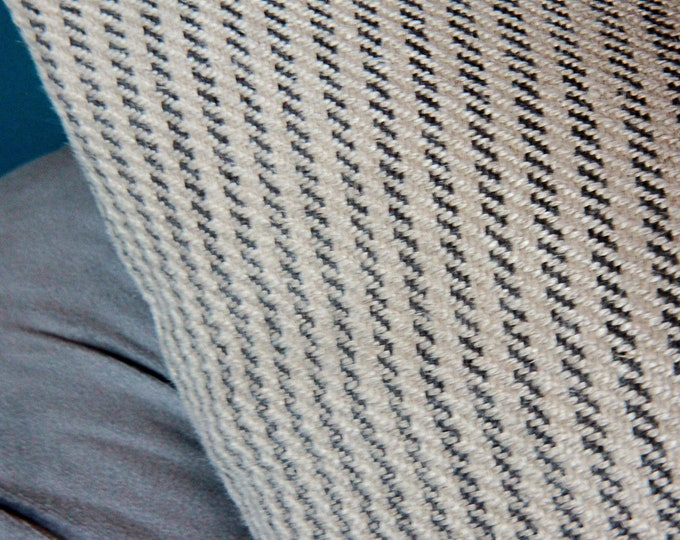 Sale 35.00 - Tan and Charcoal Stripe Pillow Cover
