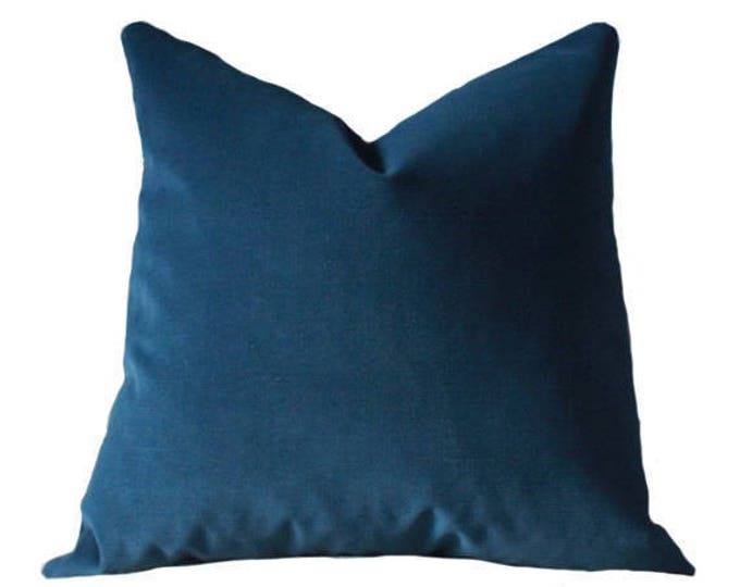 NAVY Blue Velvet Pillow Cover