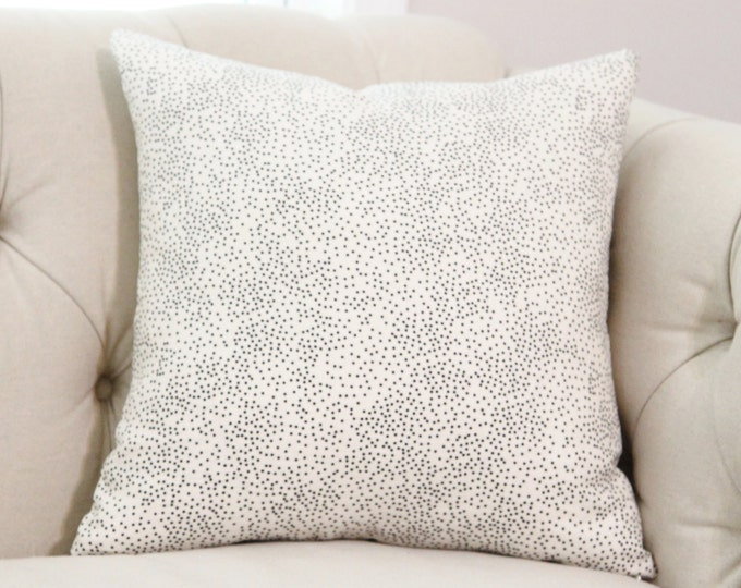 Kelly Wearstler Confetti Pillow Cover - Ivory and Black Geometric Cover - Modern Black Dot Pillow Cover - Lee Jofa Pillow