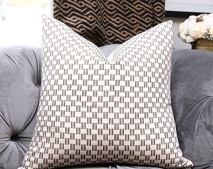 Zak and Fox Fabric - Kesa Umber Pillow Cover