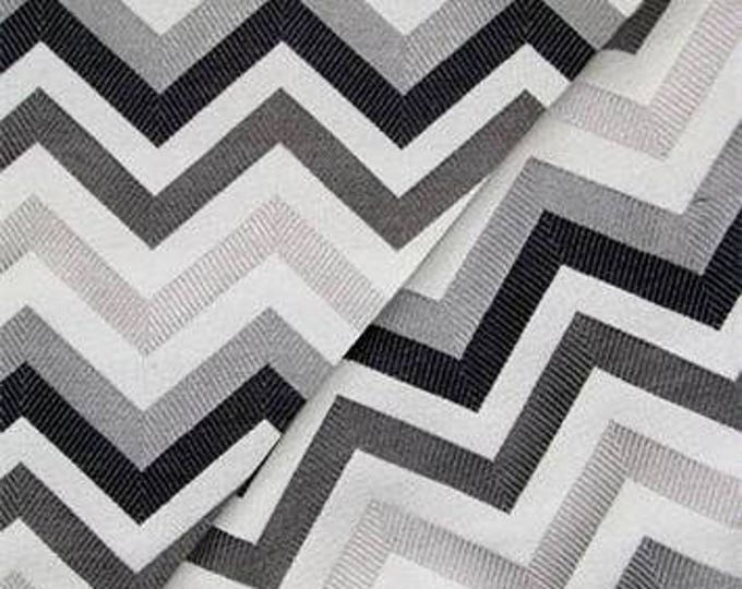 """Sale - 18"""" 25.00 Modern Turquoise Black White Grey Jacquard Zig Zag Pillow - Chevron Throw Pillow - Designer Pillow"""