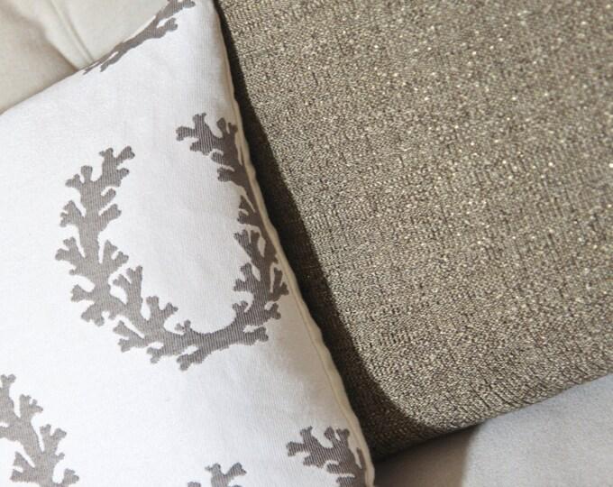 "SALE 35.00 18"" or 20"" -Brown Gold Sparkle Pillow Cover - Brown Neutral Pillow - Brown Woven Pillow Cover - Brown Home Decor - Motif Pillows"