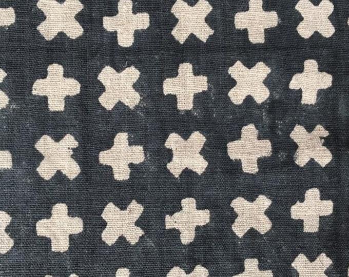 Midnight Blue Natural Linen Pillow Cover - Contemporary Modern Hand Printed Pillow Cover - Dark Blue Linen Pillow Cover